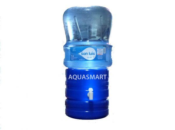 Kit de agua San Luis x 20 litros + dispensador universal azul grande