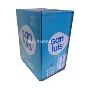 Caja de agua de mesa San Luis sin gas 20 Lt. con caño